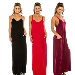 Comfy Lounge Maxi Dress in 3 Color Options